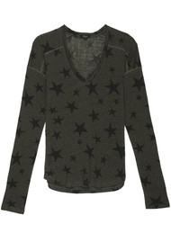 Rails Sami Top - Sage Black Stars