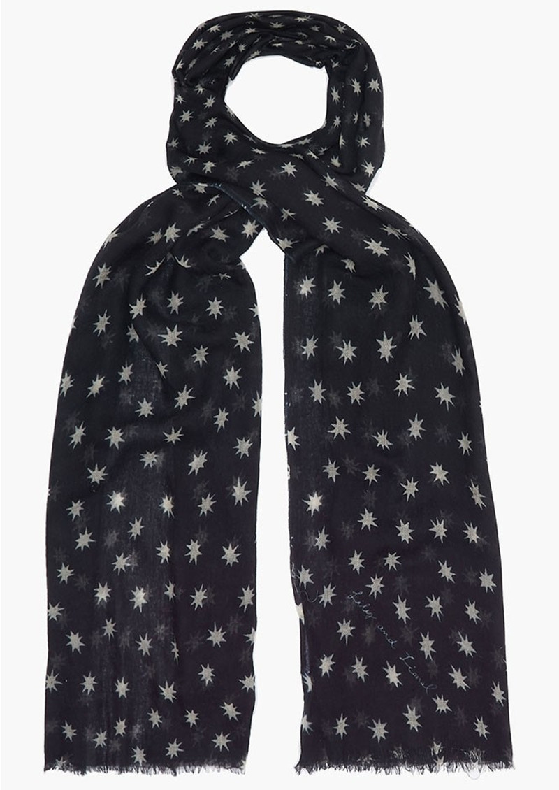 Lily and Lionel Cosmos Cashmere Scarf - Navy main image