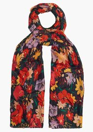 Lily and Lionel Midnight Floral Silk Scarf - Multi