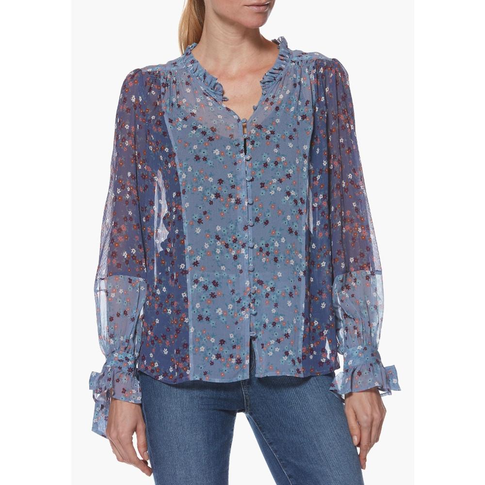 Dorothy Silk Blouse - Crown Blue Floral