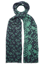 UNIVERSE OF US Skull Snake Wool Scarf - Navy