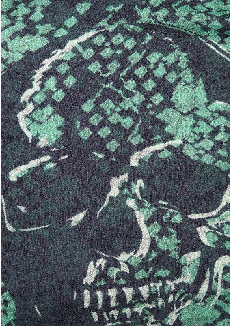 UNIVERSE OF US Skull Snake Wool Scarf - Navy main image
