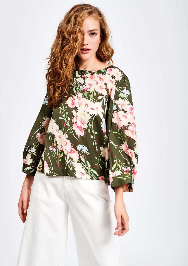 ESSENTIEL ANTWERP Saad Floral Boxy Top - Duffel Bag main image