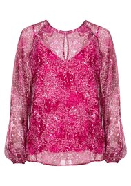 ESSENTIEL ANTWERP Savier Floral Blouse - Crazy Fuschia