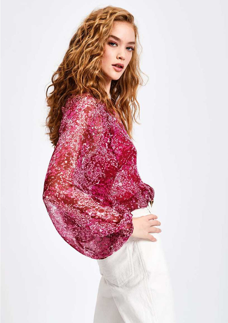 ESSENTIEL ANTWERP Savier Floral Blouse - Crazy Fuschia main image