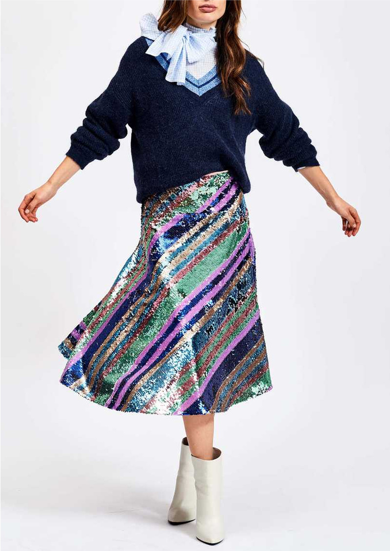 ESSENTIEL ANTWERP Salute Rainbow Sequin Skirt - Duffel Bag  main image