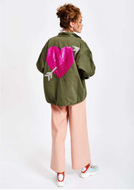 ESSENTIEL ANTWERP Sevdaliza Oversized Jacket With Sequin Heart - Duffel Bag