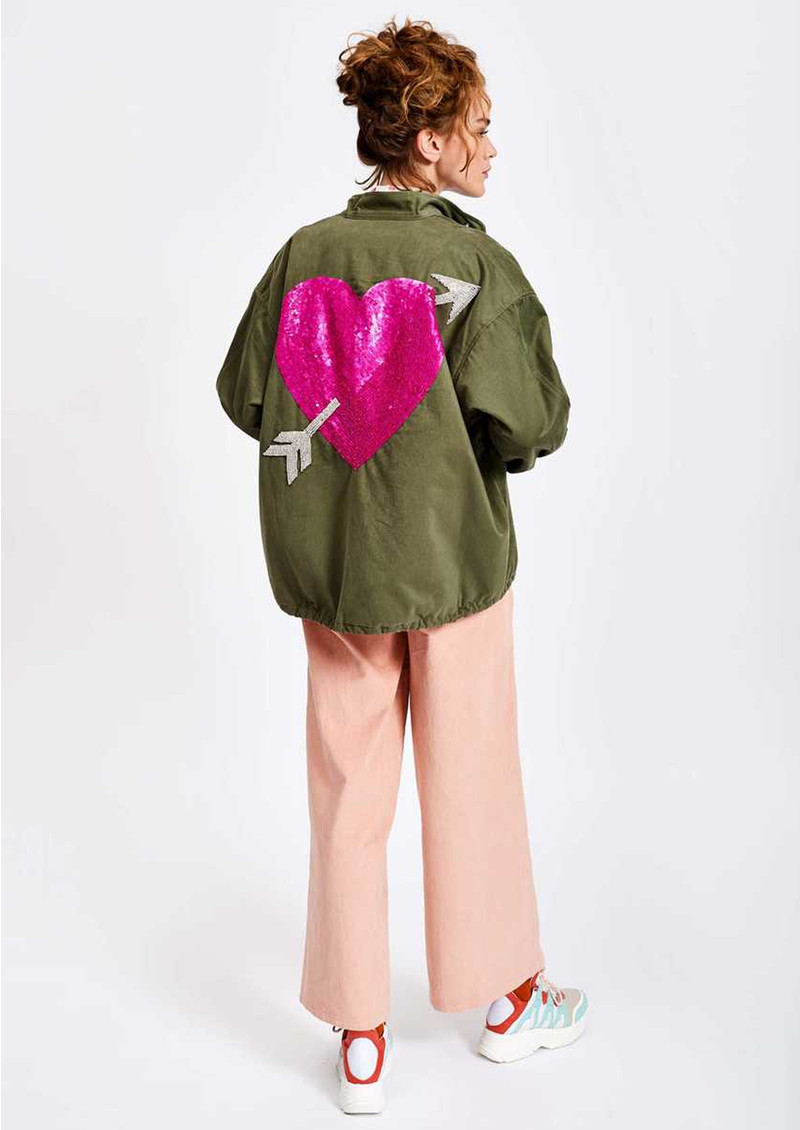 ESSENTIEL ANTWERP Sevdaliza Oversized Jacket With Sequin Heart - Duffel Bag  main image