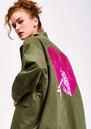 ESSENTIEL ANTWERP Sevdaliza Oversized Jacket With Sequin Heart - Duffel Bag