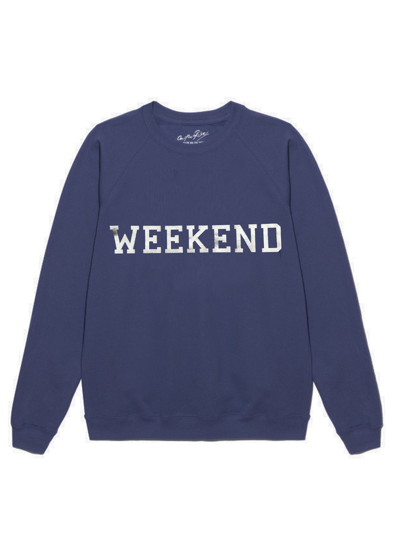 ON THE RISE Weekend Jumper - Navy & Silver main image