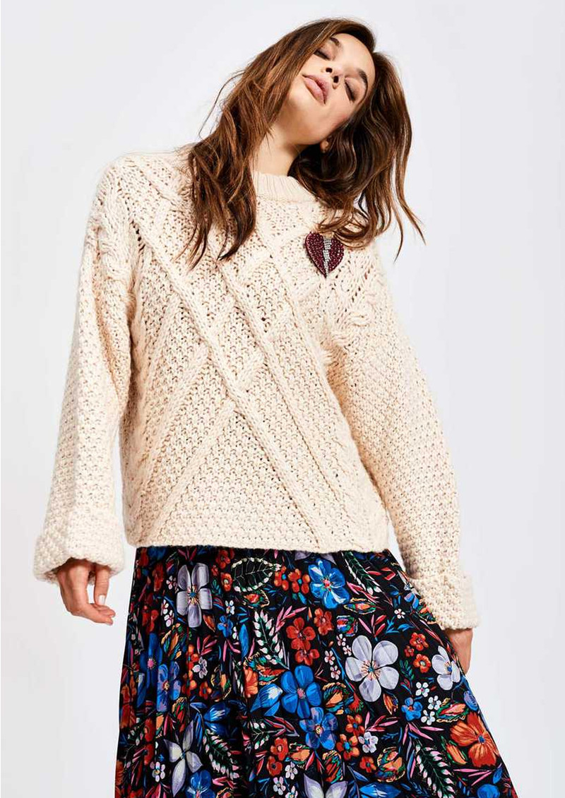 ESSENTIEL ANTWERP Sacramo Round Neck Sweater - Off White  main image