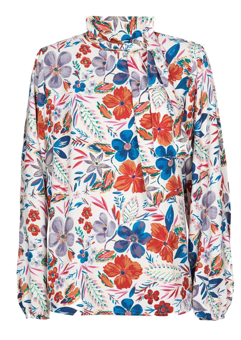 ESSENTIEL ANTWERP Saadiq Floral Blouse- Off White  main image