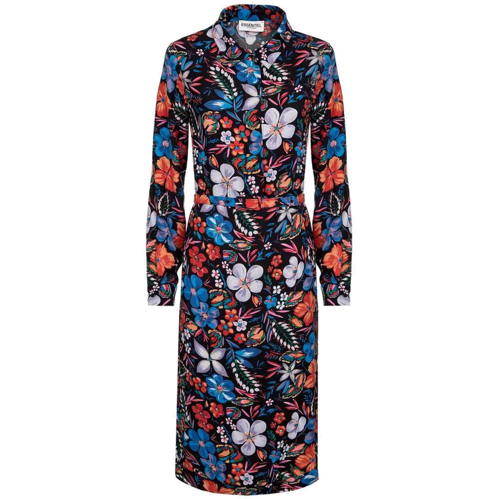 Sabaton Dark Floral Shirt Dress - Moon
