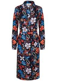 ESSENTIEL ANTWERP Sabaton Dark Floral Shirt Dress - Moon
