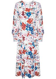 ESSENTIEL ANTWERP Saga Floral Midi Dress - Off White