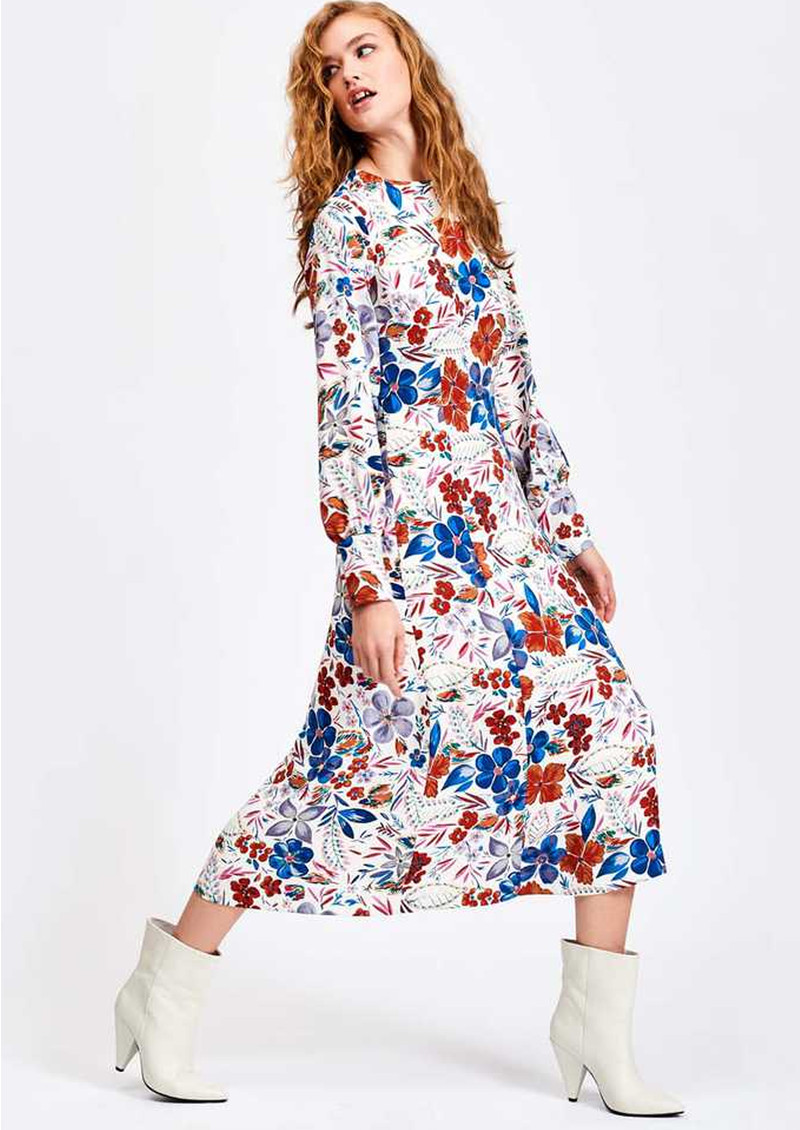ESSENTIEL ANTWERP Saga Floral Midi Dress - Off White  main image
