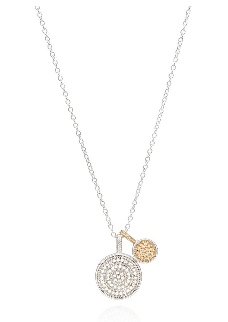 ANNA BECK Circle Of Life Charity Dual Divided Disc Necklace - Gold & Silver main image
