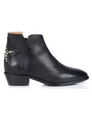 AIR & GRACE Stellar Leather Boot - Black