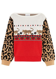 HAYLEY MENZIES Leopardess Jumper - Red