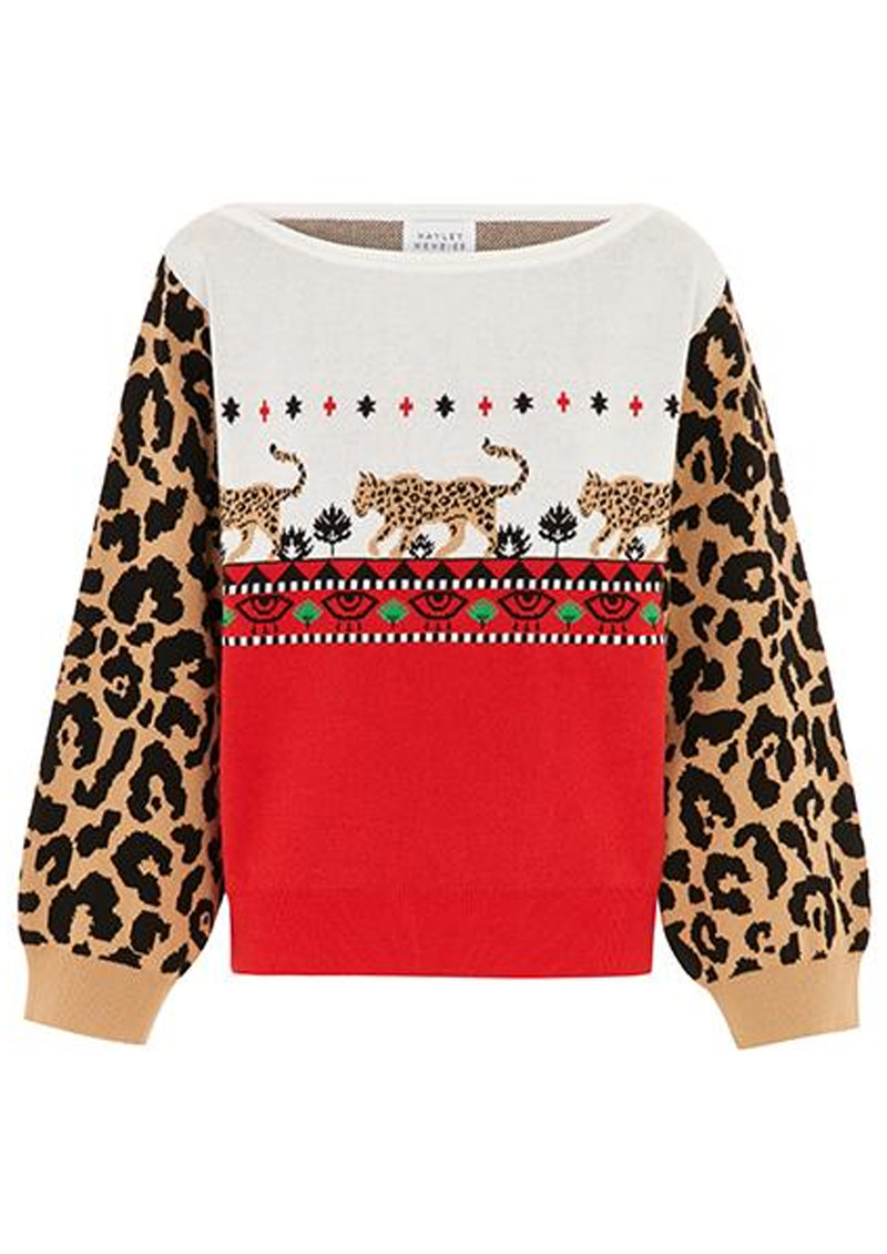 HAYLEY MENZIES Leopardess Jumper - Red main image