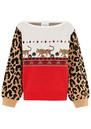 HAYLEY MENZIES Leopardess Jumper - Red