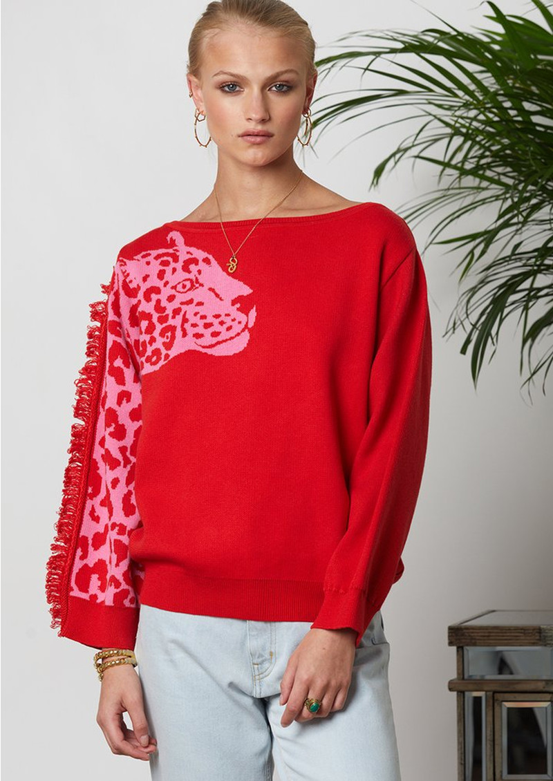 HAYLEY MENZIES Panthera Jumper - Red Pink main image