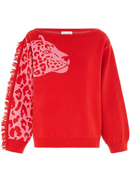 HAYLEY MENZIES Panthera Jumper - Red Pink