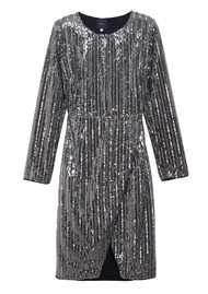 IDANO Tonnere Sequin Dress - Argente