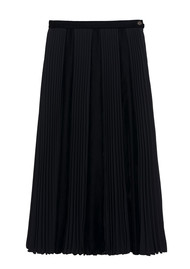 IDANO Tornade Midi Pleated Skirt - Black