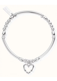 ChloBo Lost in Love Heart Bracelet - Silver