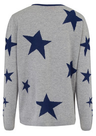 COCOA CASHMERE Star Cashmere Jumper - Grey Blue