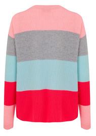 COCOA CASHMERE Bold Stripe Cashmere Jumper - Peach