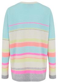 COCOA CASHMERE Lurex Stripe Cashmere Jumper - Sherbets