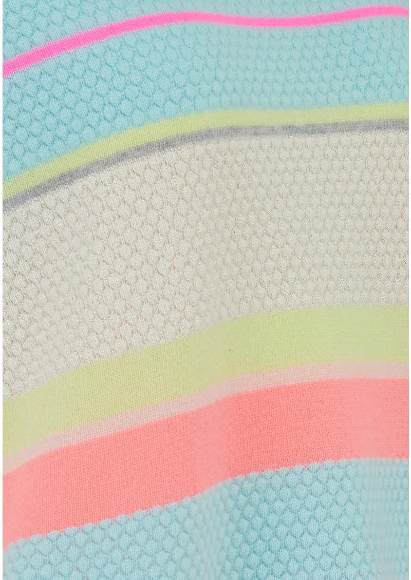 COCOA CASHMERE Lurex Stripe Cashmere Jumper - Sherbets main image