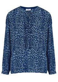 Mercy Delta Fenton Silk Blouse - Bluebell Micro Safari