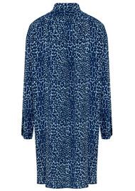 Mercy Delta Wilton Silk Shirt Dress - Bluebell Micro Safari