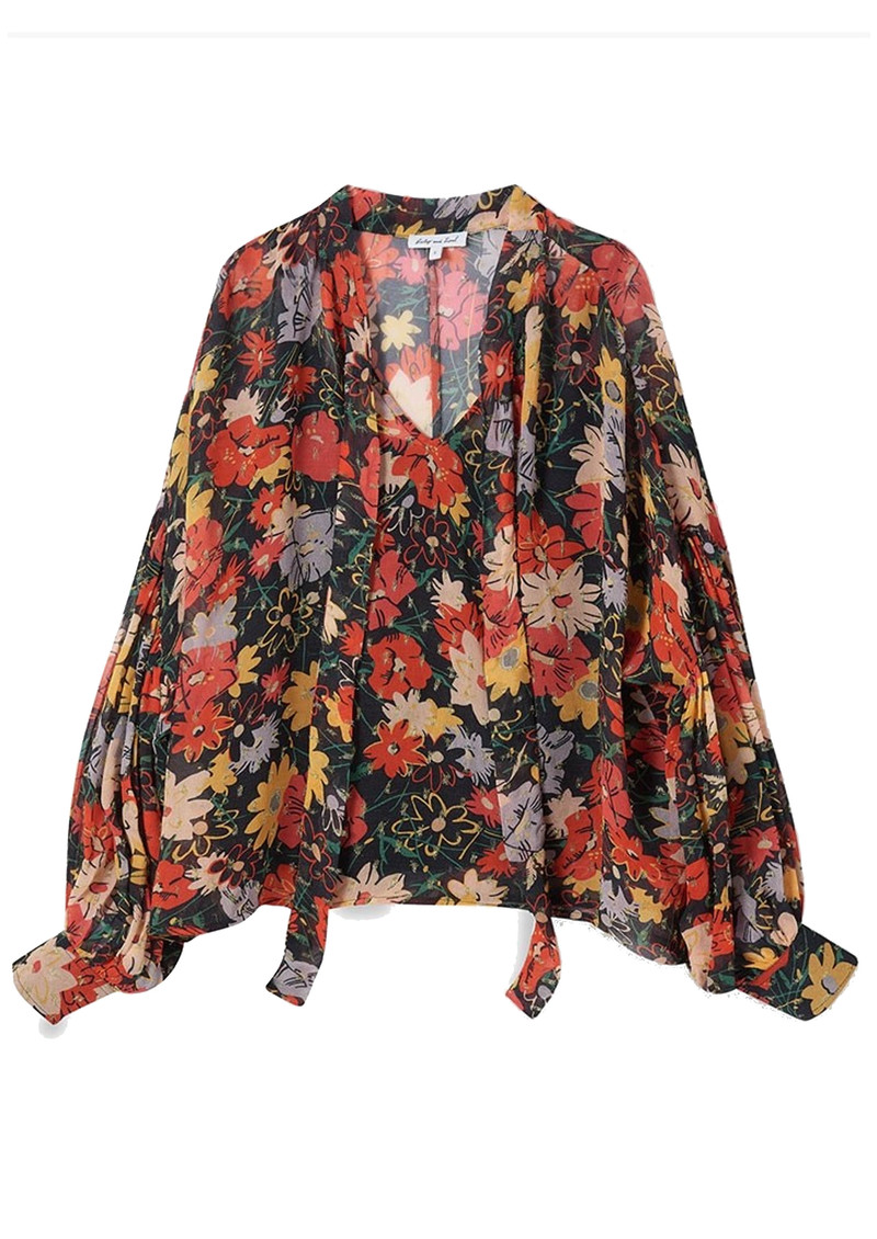 Lily and Lionel Jess Blouse - Midnight Floral main image