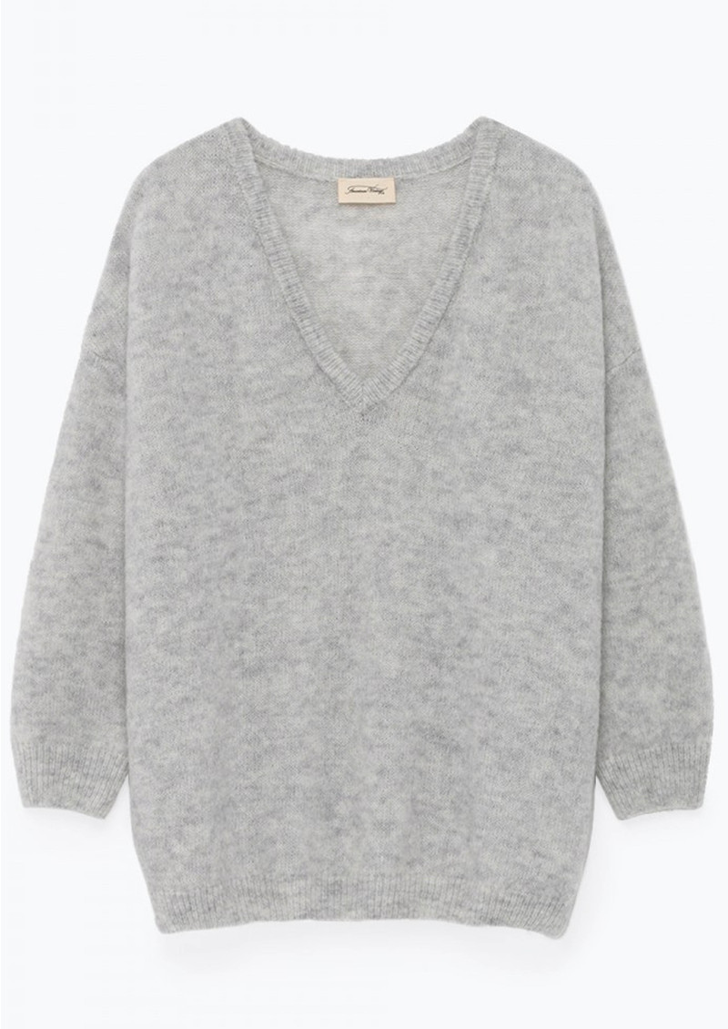 Viki Long Sleeve Jumper - Pearl, Grey & Melange main image