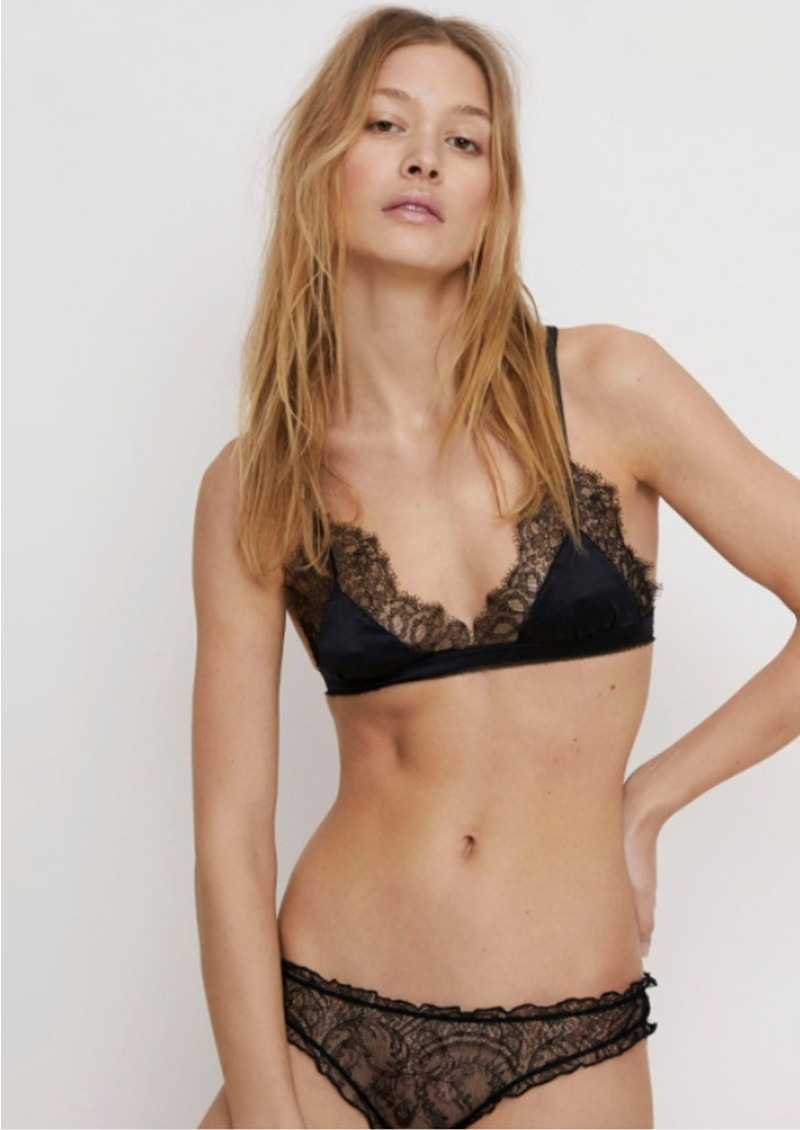 LOVE STORIES Lolita Lace Briefs - Black main image