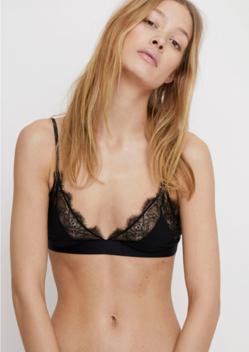LOVE STORIES Love Lace Bralette - Black main image