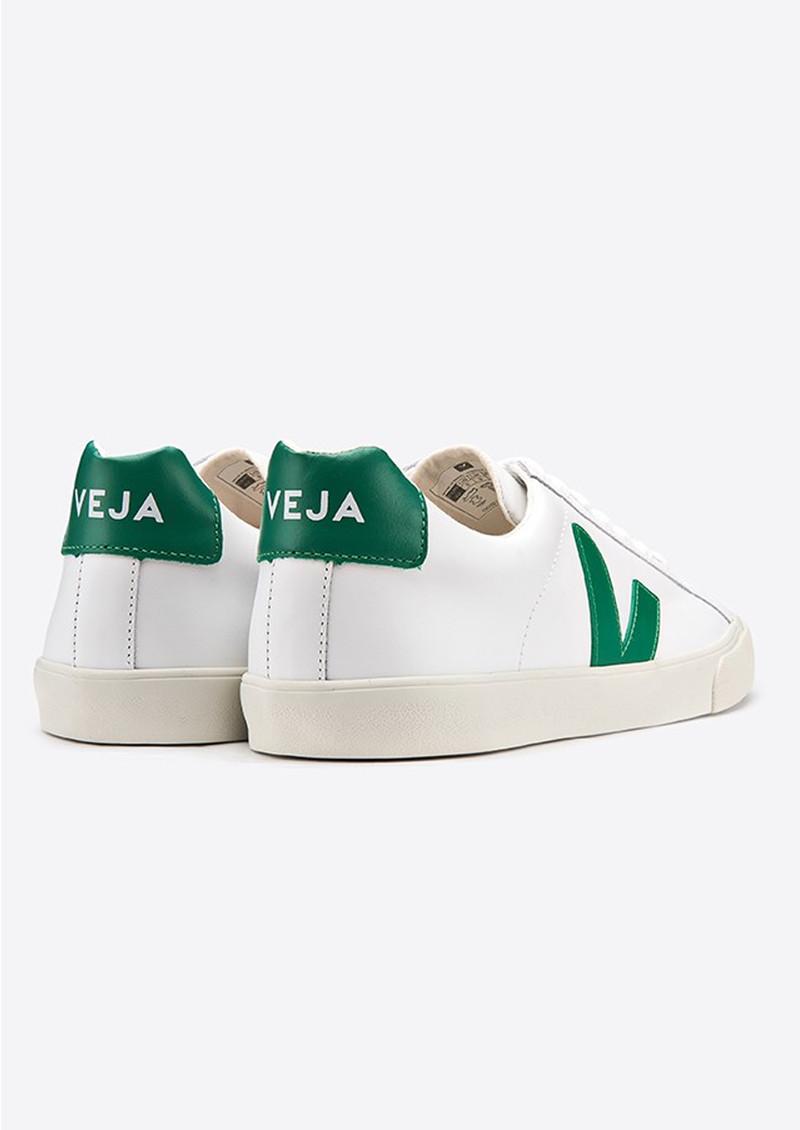 VEJA Esplar Leather Trainers - Extra White & Emeraude main image