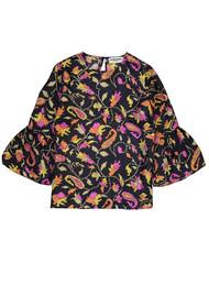 ESSENTIEL ANTWERP Ridgy Printed Blouse - Blue & Pink