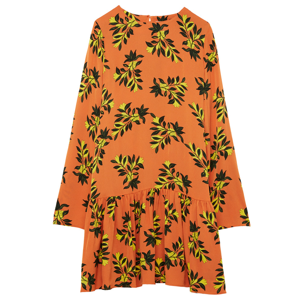 Tilly Dress - Orange Floral