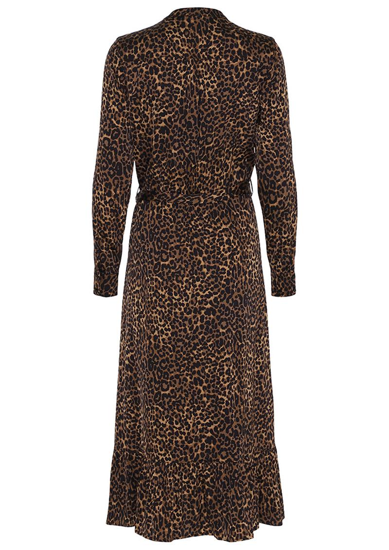 CUSTOMMADE Beatha Leopard Dress - Camel main image