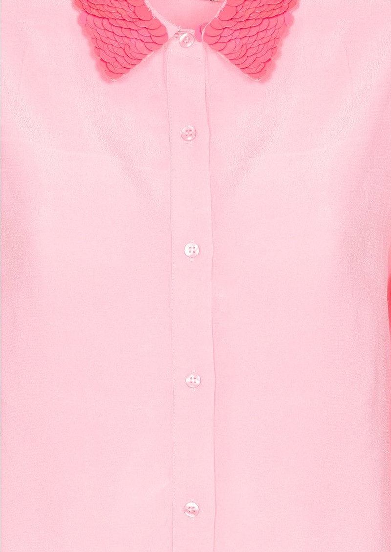 Raksoi Pink Sequin Collar Shirt  main image