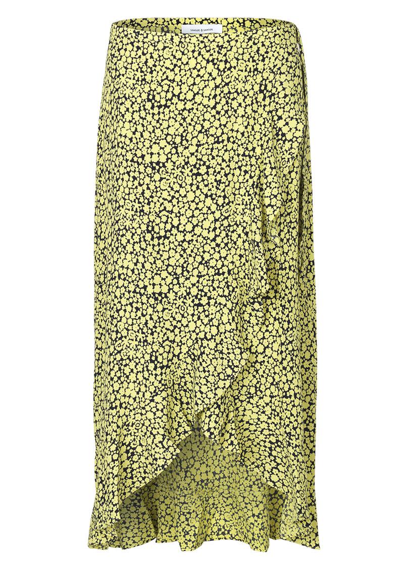 SAMSOE & SAMSOE Limon Floral L Wrap Skirt - Butter main image