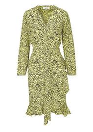 SAMSOE & SAMSOE Limon IS Floral AOP Wrap Dress - Butter