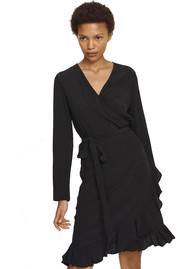 SAMSOE & SAMSOE Limon IS AOP Wrap Dress - Black