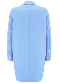 HARRIS WHARF Cocoon Wool Coat - Baby Blue
