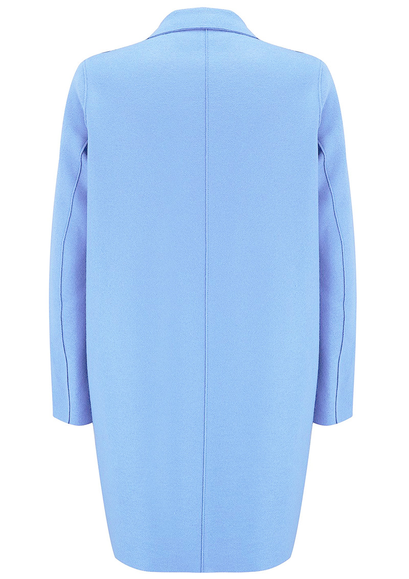 HARRIS WHARF Cocoon Wool Coat - Baby Blue main image